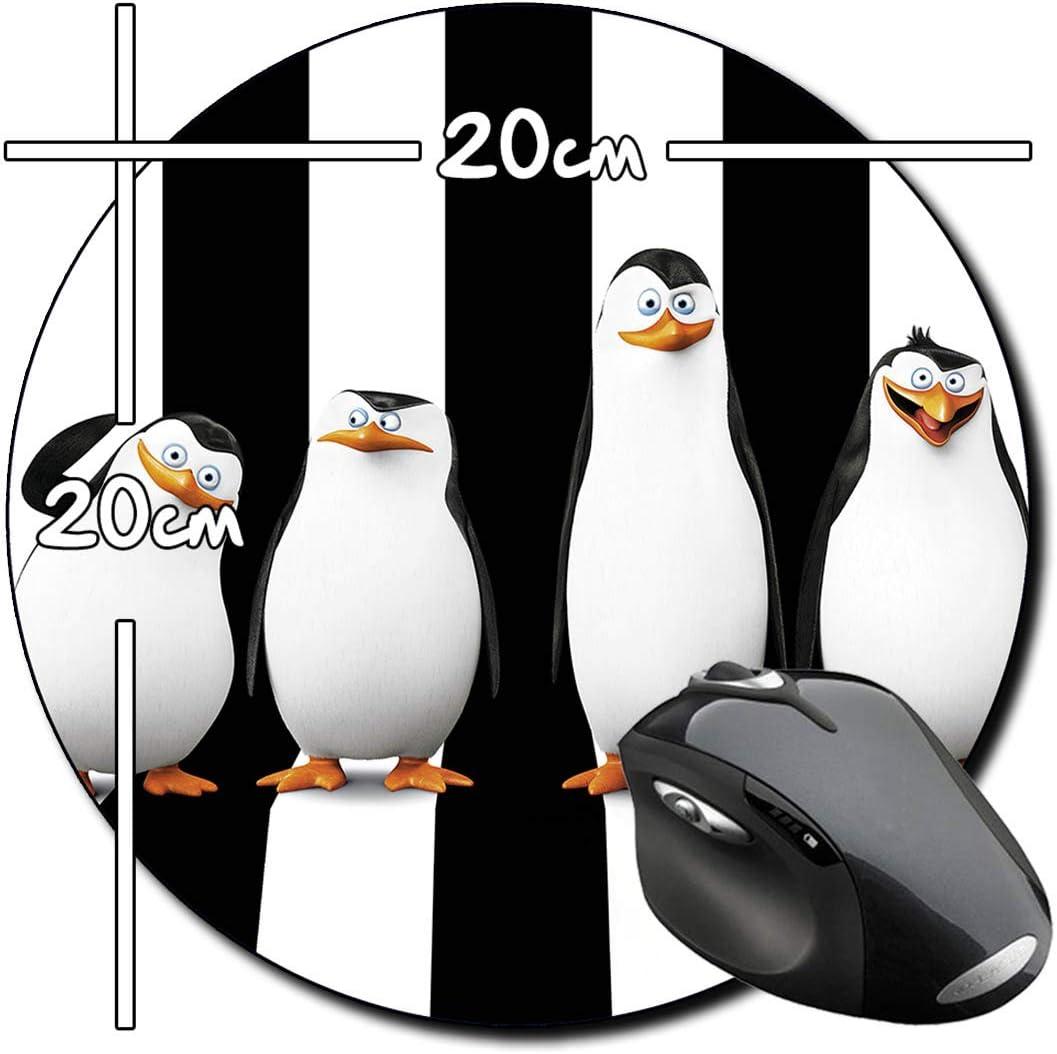 Los Pinguinos De Madagascar Penguins of Madagascar A Alfombrilla Redonda Round Mousepad PC: Amazon.es: Electrónica