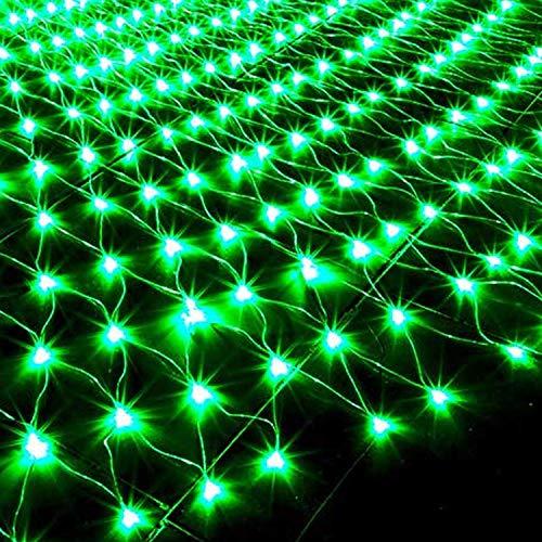 YI HOME- LED Flash Luces,Luces De Cadena,Las Redes De Pesca Verde Cielo Estrellado Navidad Decoracion Cuento Impermeable...