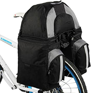 BOLSAS alforja Trasera Bicicleta, Bicicleta 60L Ciclismo en Asiento Trasero de Cola Maleta con Maletero, 2 Colores,Black: Amazon.es: Deportes y aire libre