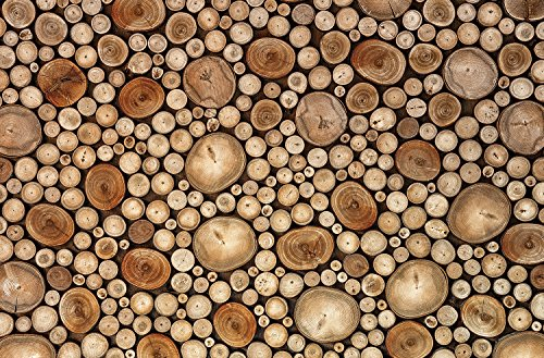 Stacked Presents - JP London SPMURLT1X1001715 JPL and Aida Ianeva present Circles Wood Log Stacked Trees 36