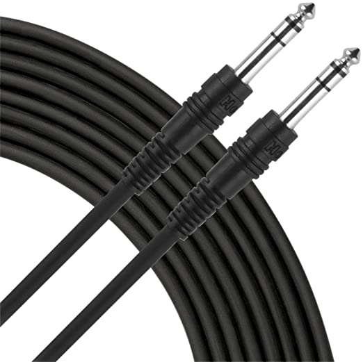 Amazon Com Live Wire Trs Trs Balanced Patch Cable 5 Foot Musical