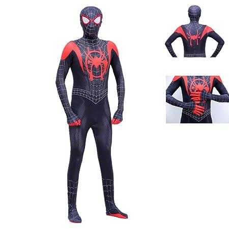 KOUYNHK Spiderman Miles Morales Máscara Traje Traje Mono ...