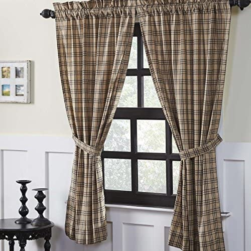 VHC Brands Farmhouse Window Sawyer Mill Tan Curtain