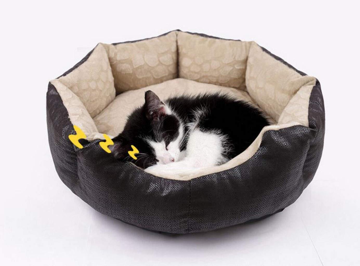 GKKXUE Nido di Gatto Cuccia Estiva Colore : Brown, Dimensioni : S. Letto per Animali Domestici Nido di Animali Domestici