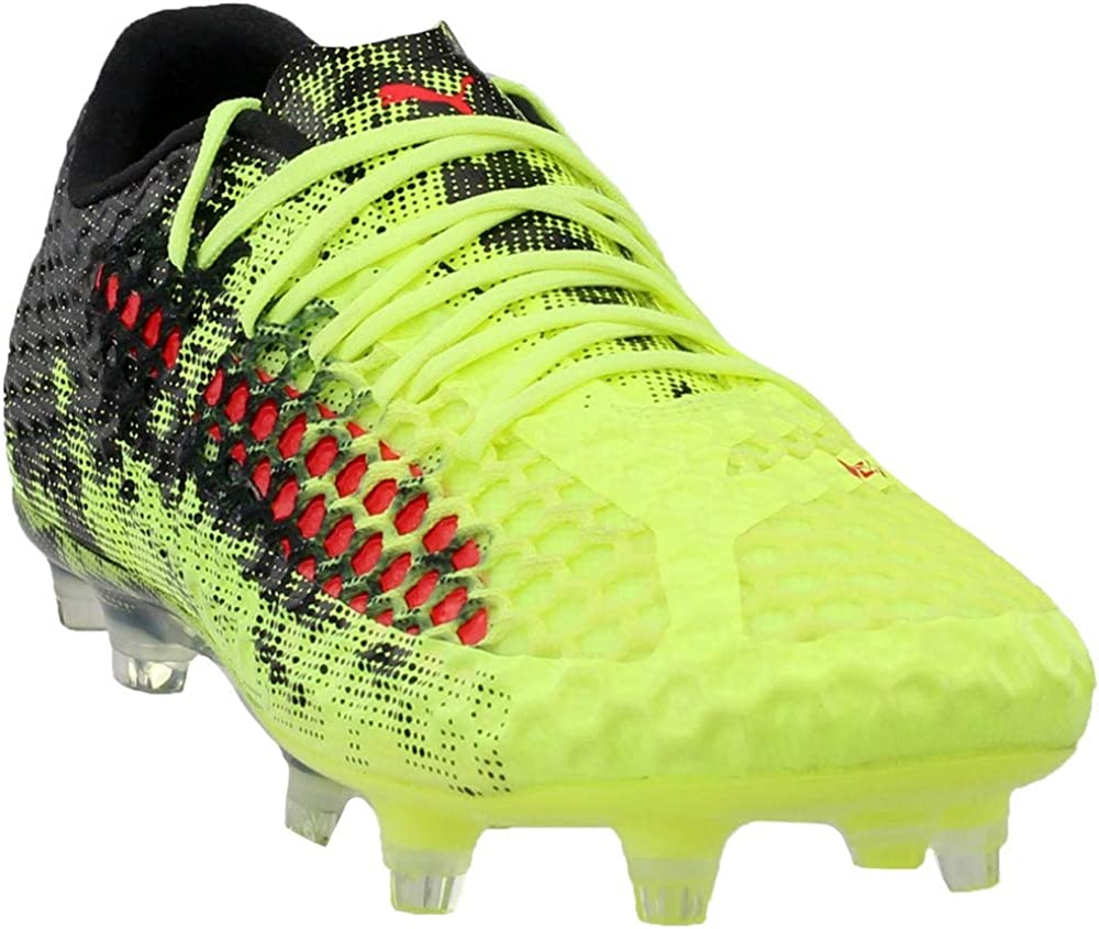 PUMA Mens Future 18.1 Netfit Low Firm Ground/Artificial Ground Soccer  Casual Cleats,