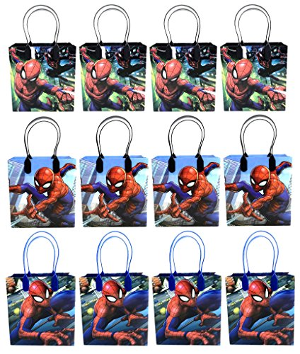 12PC SPIDERMAN GOODIE BAGS PARTY FAVOR BAGS GIFT -