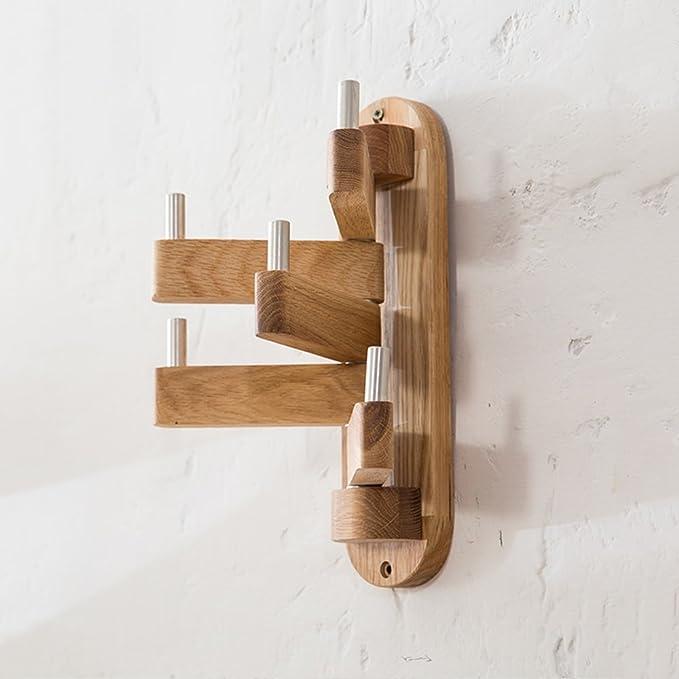 Amazon.com: PM - Perchero de madera maciza para dormitorio ...