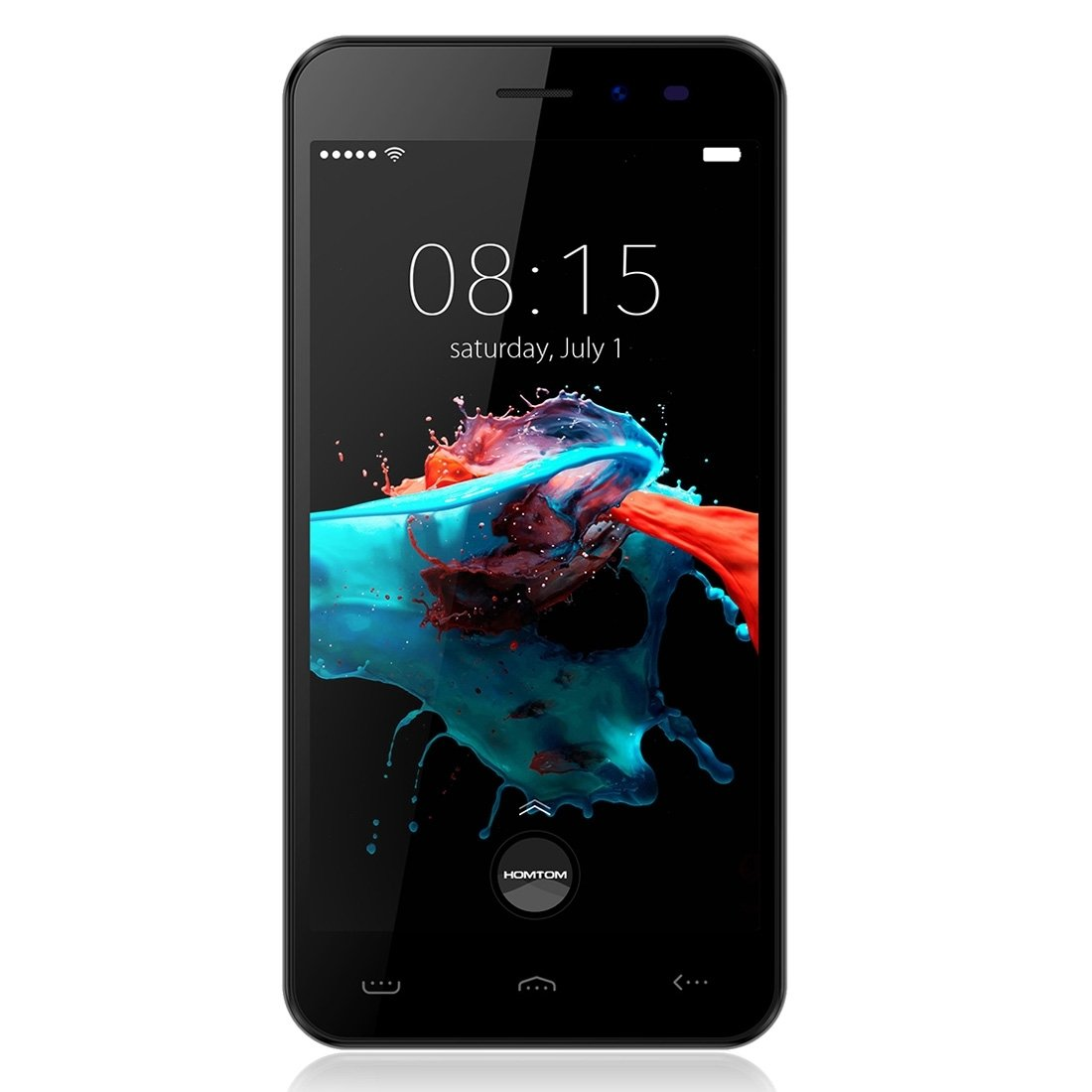 HOMTOM HT16 5.0 inch 1GB RAM + 8GB ROM Dual SIM Android 6.0 MTK6580 Quad Core up to 1.3GHz 3G Network Smartphone, Support Smart Gestures+ Wake Gesture (Black) by HOMTOM (Image #1)