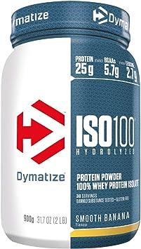 Dymatize ISO 100 Smooth Banana 900g - Hidrolizado de Proteína de Suero Whey + Aislado en Polvo