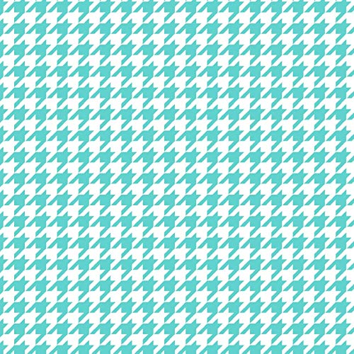 Turquoise Houndstooth - Lil Sprout Maywood Studio Cotton Flannel Fabric
