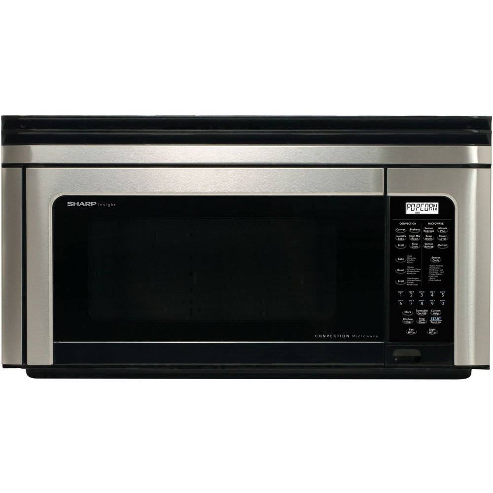 Home kitchen appliances microwaves over the range microwaves - Amazon Com Sharp R 1880ls Over The Range Microwave Convection Oven Appliances