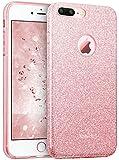ESR - Carcasa para iPhone 7 Plus, con purpurina brillante de tres capas, a prueba de golpes, cubierta exterior de TPU suave + carcasa protectora interior de policarbonato duro para Apple iPhone 7 Plus de 5,5 pulgadas (oro rosa)