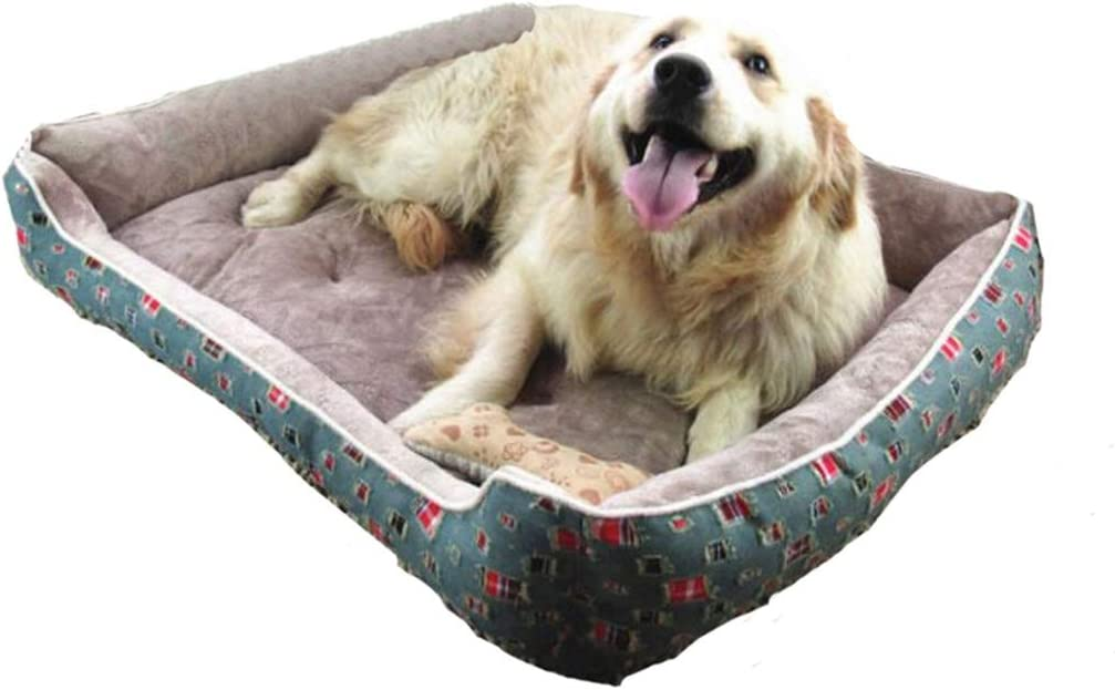 All Seasons Pet Dog Beds Warming Dog Bed House for Large Dogs Pets Sofa Mat Kennelt for Puppy Dog Cat S/M/L/XL,Grey A,60X47X15Cm