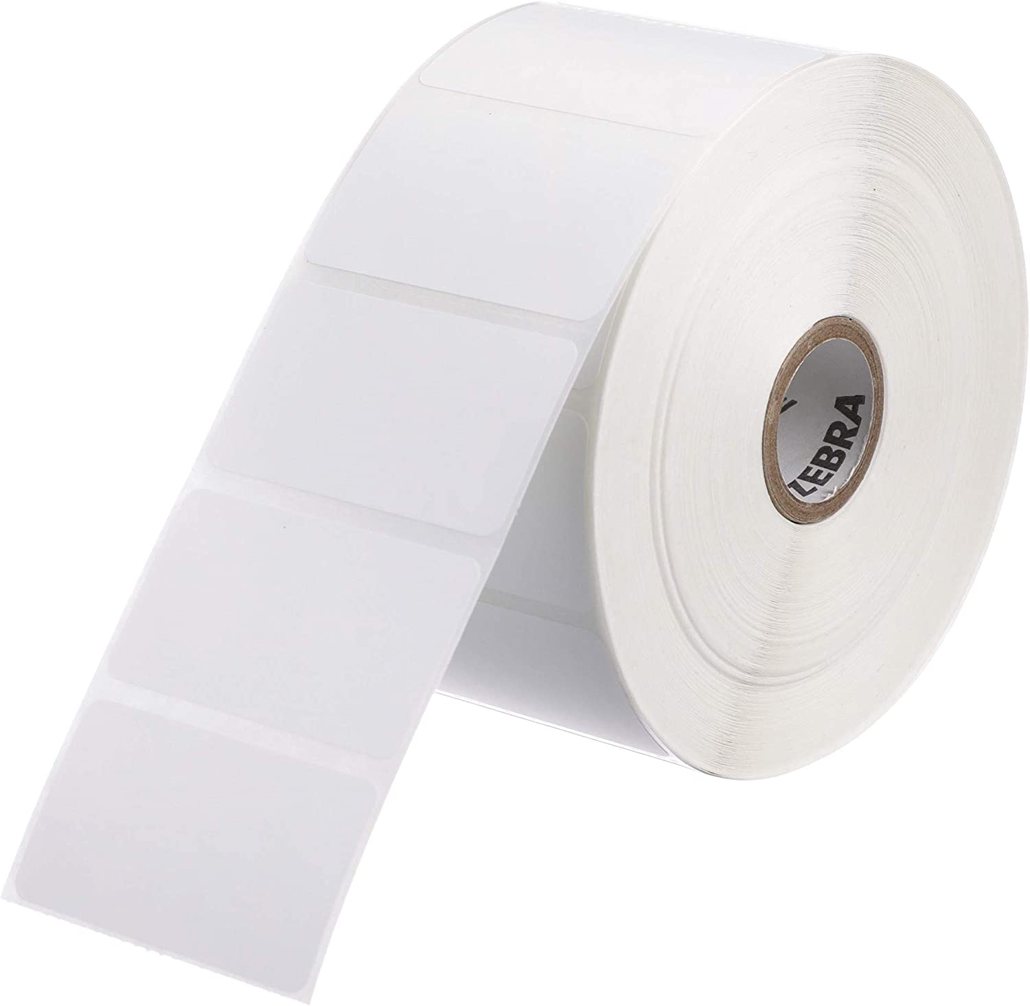 """1 ZEBRA 2.25 x 1.25 WHITE Direct Thermal Labels 3/"""" CORE - Roll of 4000 ZT410"""