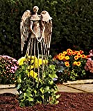 Celibrity Lawn Heavens Angels watching Antiqued style Garden statue