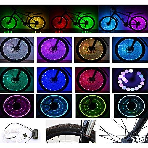 [해외]Fashionwu 방수 LED 자전거 휠 라이트 자전거 림 라이트 LED 휠 스포크 라이트 장착 편리 / Fashionwu Waterproof LED Bicycle Wheel Light Bicycle Rim Light LED Wheel Spoke Light Easy To Install