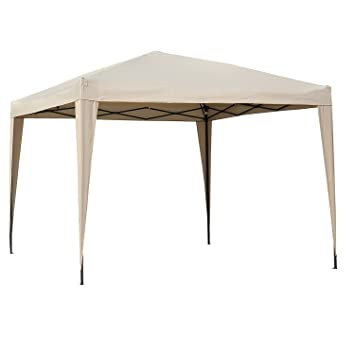 Angel Living Plegable Pop-Up Gazebo 3x3m Plegable Tienda De CampañA JardíN Patio Exterior Marquesina Toldo Con Bolsa De Transporte (Beige): Amazon.es: ...