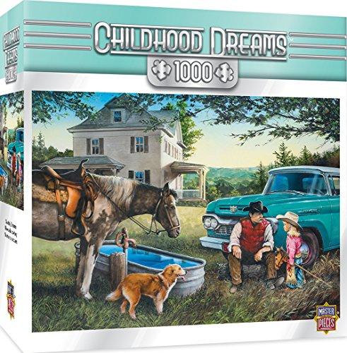 MasterPieces Childhood Dreams Jigsaw Puzzle, Cowboy Dreams, Featuring Art by Dan Hatala, 1000 - Piece 1000 Puzzle Dreams
