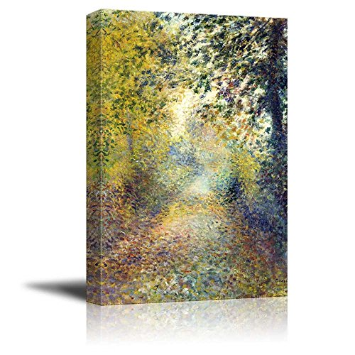 (wall26 - in The Woods by Pierre-Auguste Renoir - Canvas Print Wall Art Famous Painting Reproduction - 24