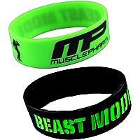 ESHOPPEE Black Green MP Beast Mode Wrist Band Combo of 2 pcs.