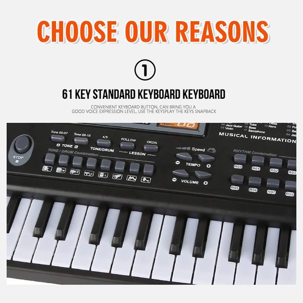 Muslady 61 Keys Black Digital Music Electronic Keyboard Key Board Electric Piano Kids Gift Musical Instrument by Muslady (Image #7)