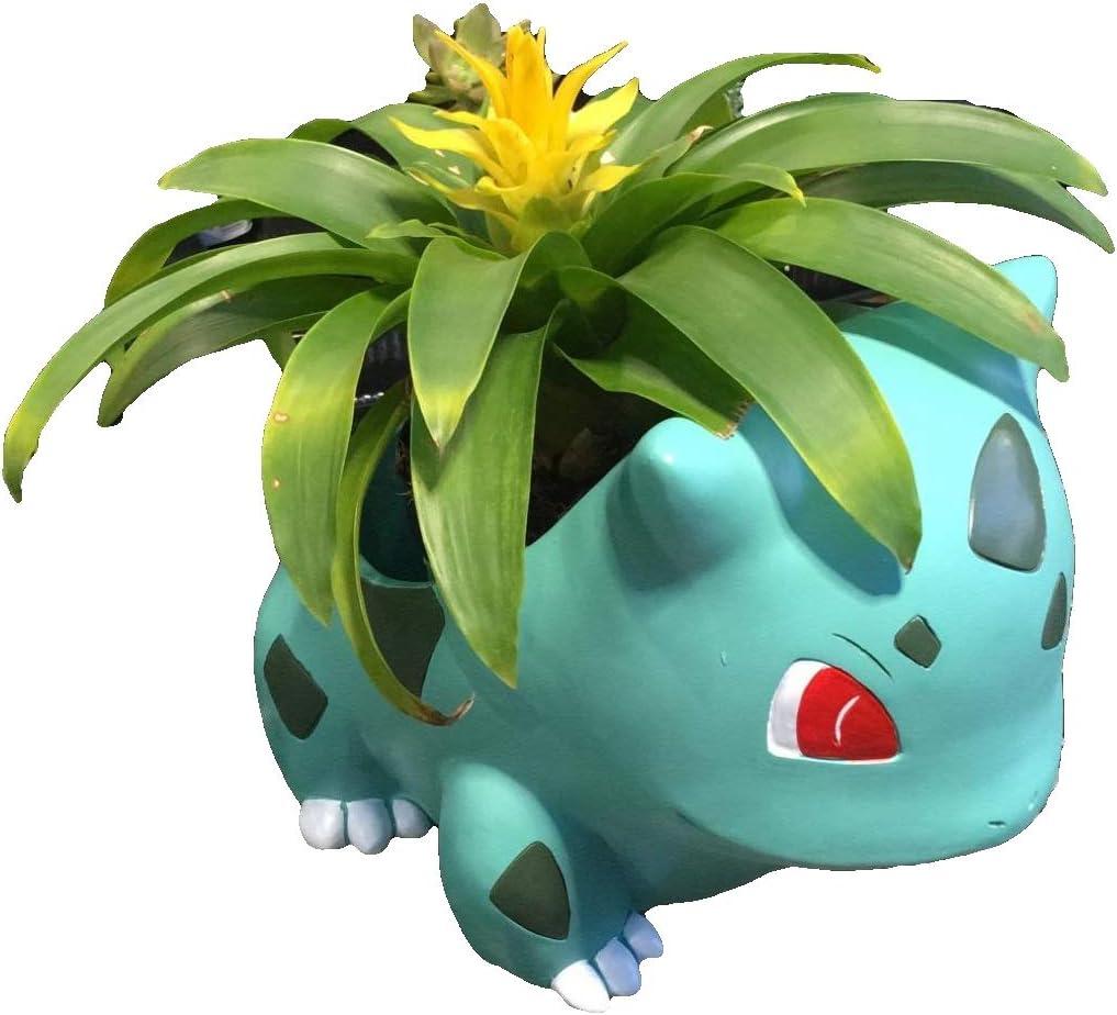 Large 7'' Bulbasaur Planter Pot - Great for Big Succulents, Houseplants, Echeveria, Jade Plants | Jumbo Size 18cm Tall Flowerpot
