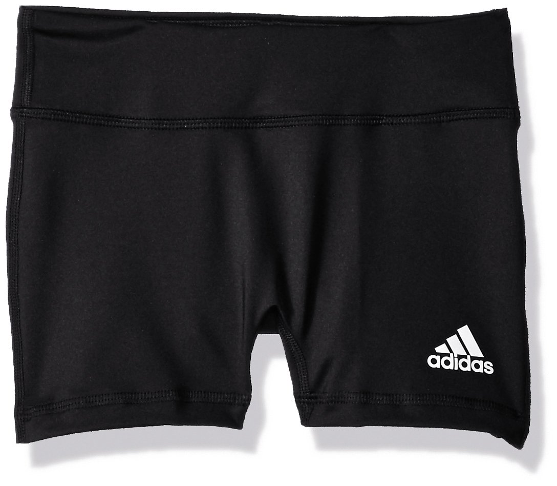 adidas Youth 4 Inch Short Tight, Black, Large