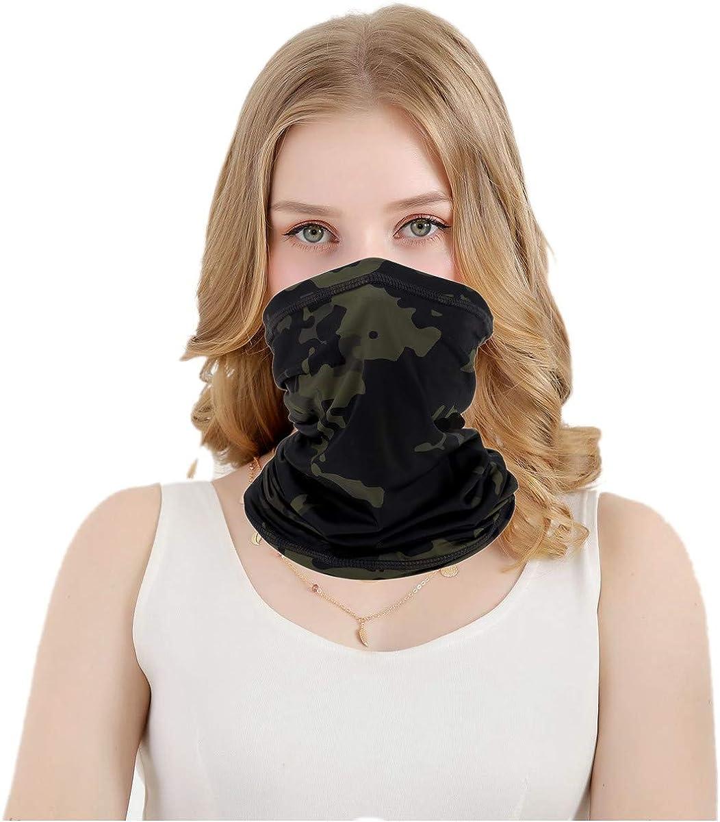 MengPa Kids Face Cover Neck Gaiter Ear Loops Balaclava 2Pcs