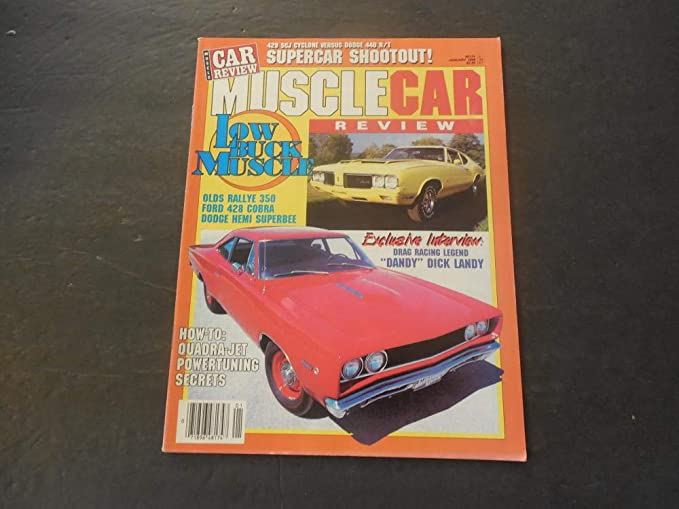 Muscle Car Review Jan 1988 Olds Rallye 350