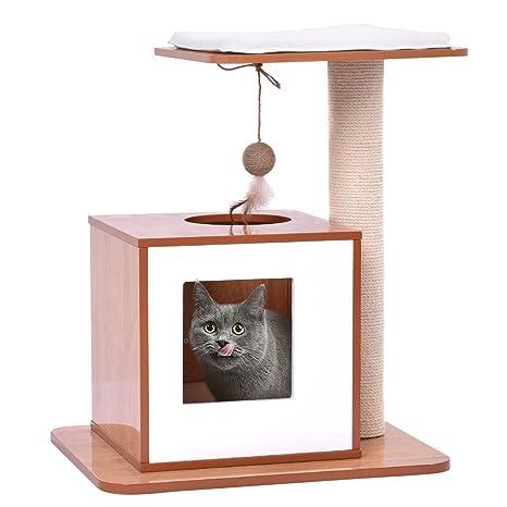 Amazon.com: HTH_ONLINE_STORE - Árbol para gatos con torre de ...