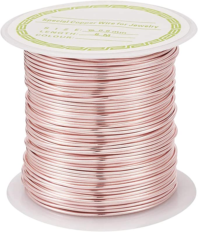 Copper wire 0.6 mm jewelry wire roll length 20 feet floral art