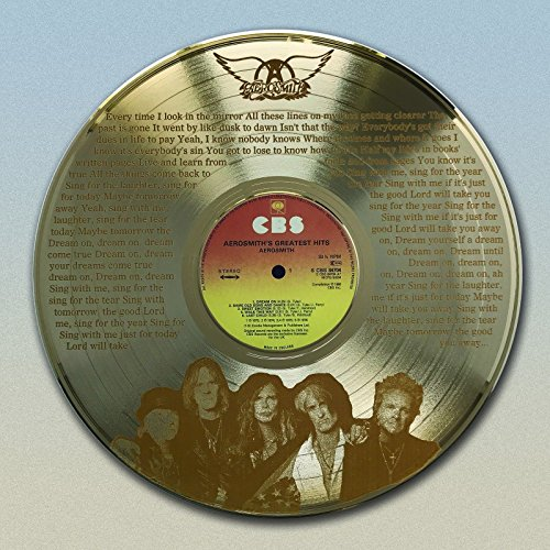 Aerosmith Gold LP laser etched with Dream On Wall Art M4