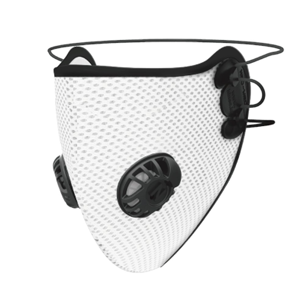 [Neomed] Fine Dust Anti-Pollution Mask, [White] 5 Layer Adjustable Washable Mesh Respirator Face Mask for Fine Dust Particles - Perfect for City Cycling, Jogging, Allergies, Pollen and More!