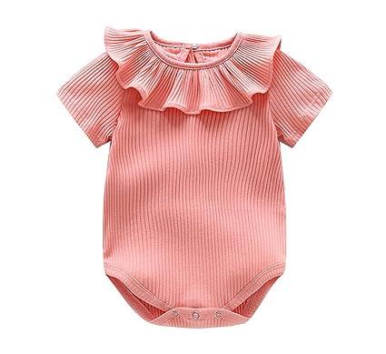 d4c5d2e39aeb7 ZooArts ベビー服 ロンパース かわいい 新生児サイズ 男の子 女の子 半袖 夏 無地 綿 カバーオール ワンピース 赤ちゃん 柔らかい