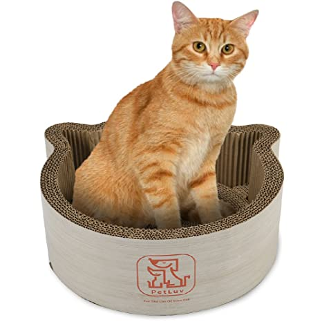 PetLuv Cute Cat Scratcher and Cat Bed, Cat Accessories, Scratch Pad for Cats ,
