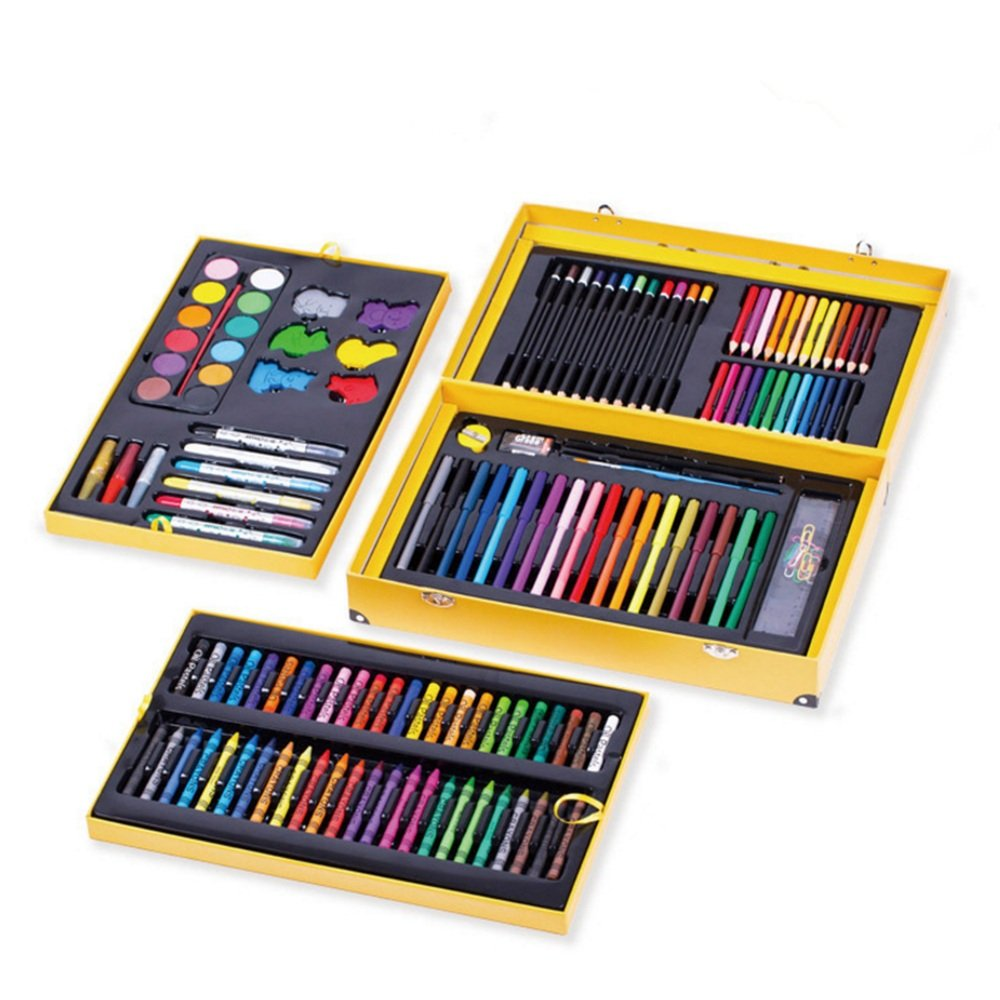 JIANGXIUQIN Artist Art Drawing Set, 158 Luxury Art Painting Supplies, Cute Snap-on Suitcases Store Everything, Free to Create A Variety of Artistic Media. Gifts for Children and Children. by JIANGXIUQIN (Image #3)