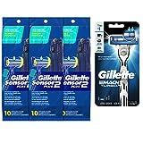 Gillete Sensor2 Plus Disposable razor 10 count with Gillette Mach3 Trubo Razor