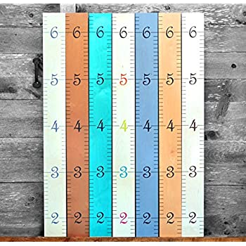 Amazon Growth Chart Art Wooden Growth Chart Ruler For Boys