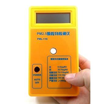 PM2.5 Detector PM 2.5 Analizador de calidad de aire Monitor de partículas de polvo