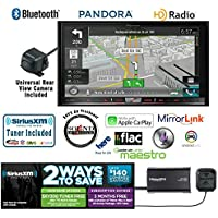Pioneer AVIC-8100NEX In Dash Double Din 7 DVD CD Navigation Receiver and Kenwood CMOS-22P Backup Camera with a SiriusXM Satellite Radio Tuner, Antenna SXV300V1 and a FREE SOTS Air Freshener