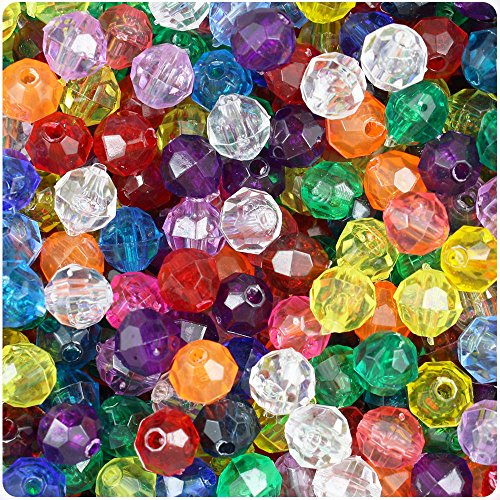 Transparent Faceted Beads - 8