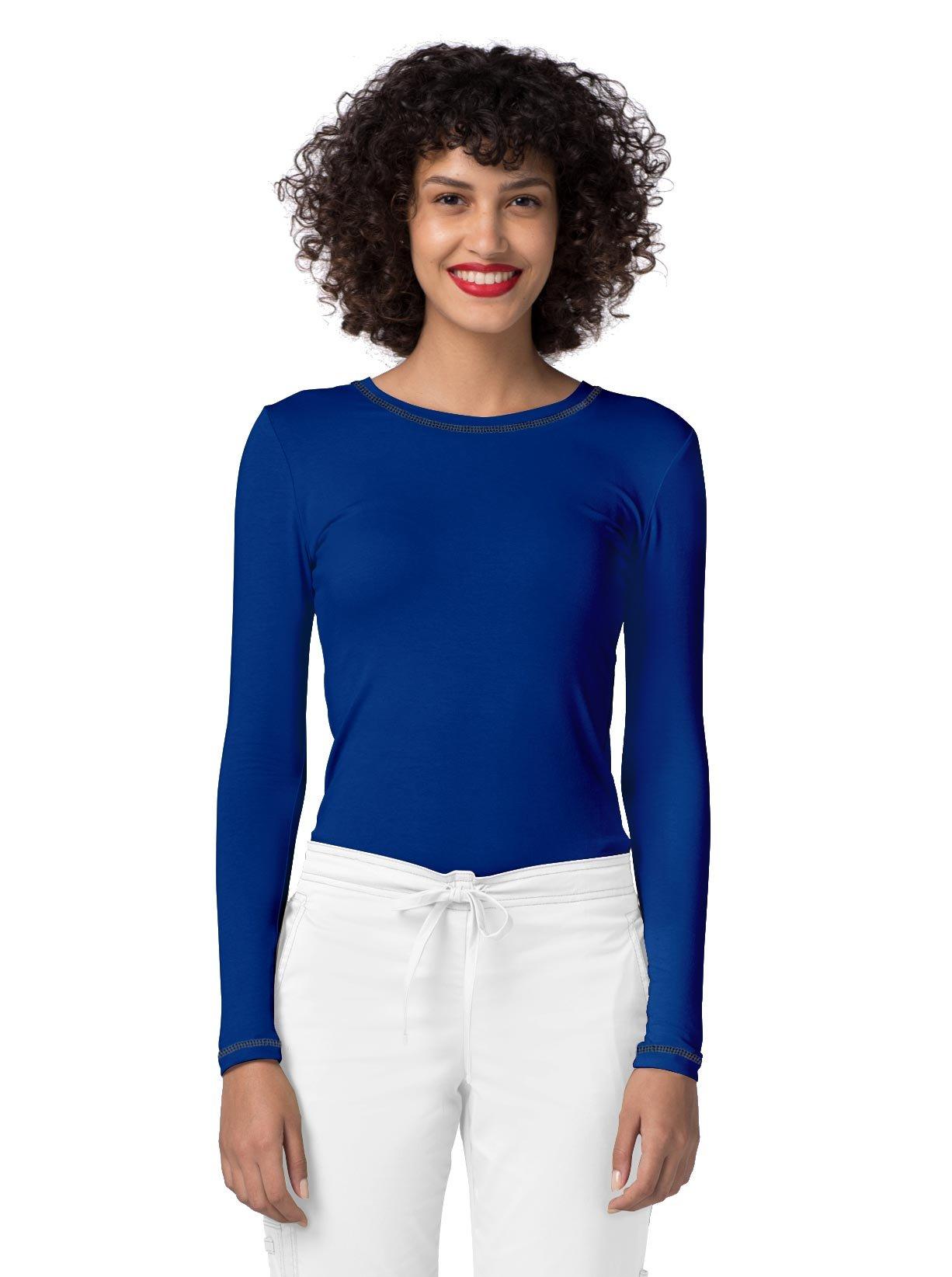 Adar Womens Comfort Long Sleeve Fitted T-Shirt Underscrub Tee- 3400 - Royal Blue - L by ADAR UNIFORMS (Image #4)