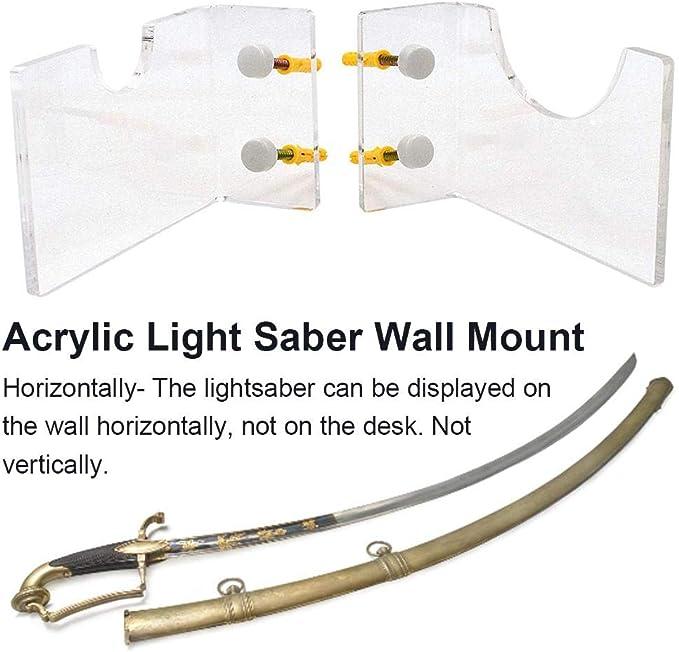 Thrivinger 3 pollici Light Sabre supporto a parete Light Sabre acrilico display a parete Rack-No spada laser trasparente upgrade everybody