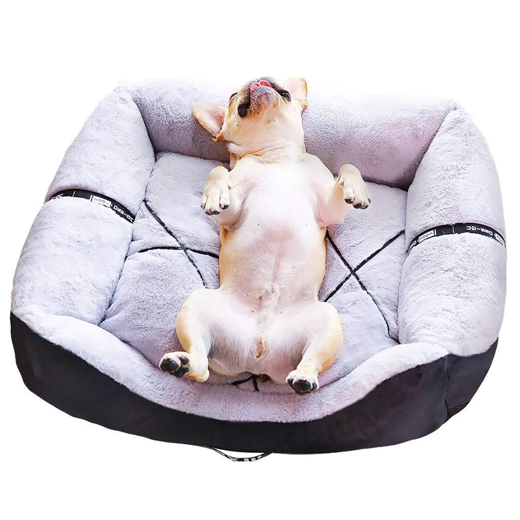 Black M Black M WEIJ Pet Kennel Mat, Four Seasons Comfortable Soft Breathable Removable Washable, Suitable For Small And Medium Pets (color   Black, Size   M)