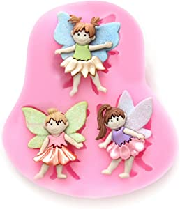 3 Small Fairy Wizard Angel Silicone Candy Chocolate Clay Gumpaste Sugar Craft Fondant Mold Cake Decorating Molds