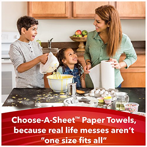Large Product Image of Scott Choose-A-Sheet Mega Roll Paper Towels, 6 Count (Pack of 4) White, Quick Absorbing Ridges for Easy Cleanup, Equal to 36 Regular Rolls