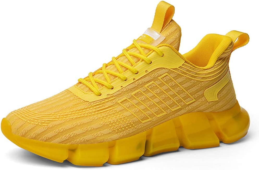 Zapatillas Running Hombre Casual Tenis Asfalto Zapatos Deporte Gym Correr Gimnasio Aire Libre Deportes Zapatillas Ligeras Palomitas Maíz Malla Voladora Coco Zapatos Zapatos Viejos,Amarillo,40: Amazon.es: Hogar