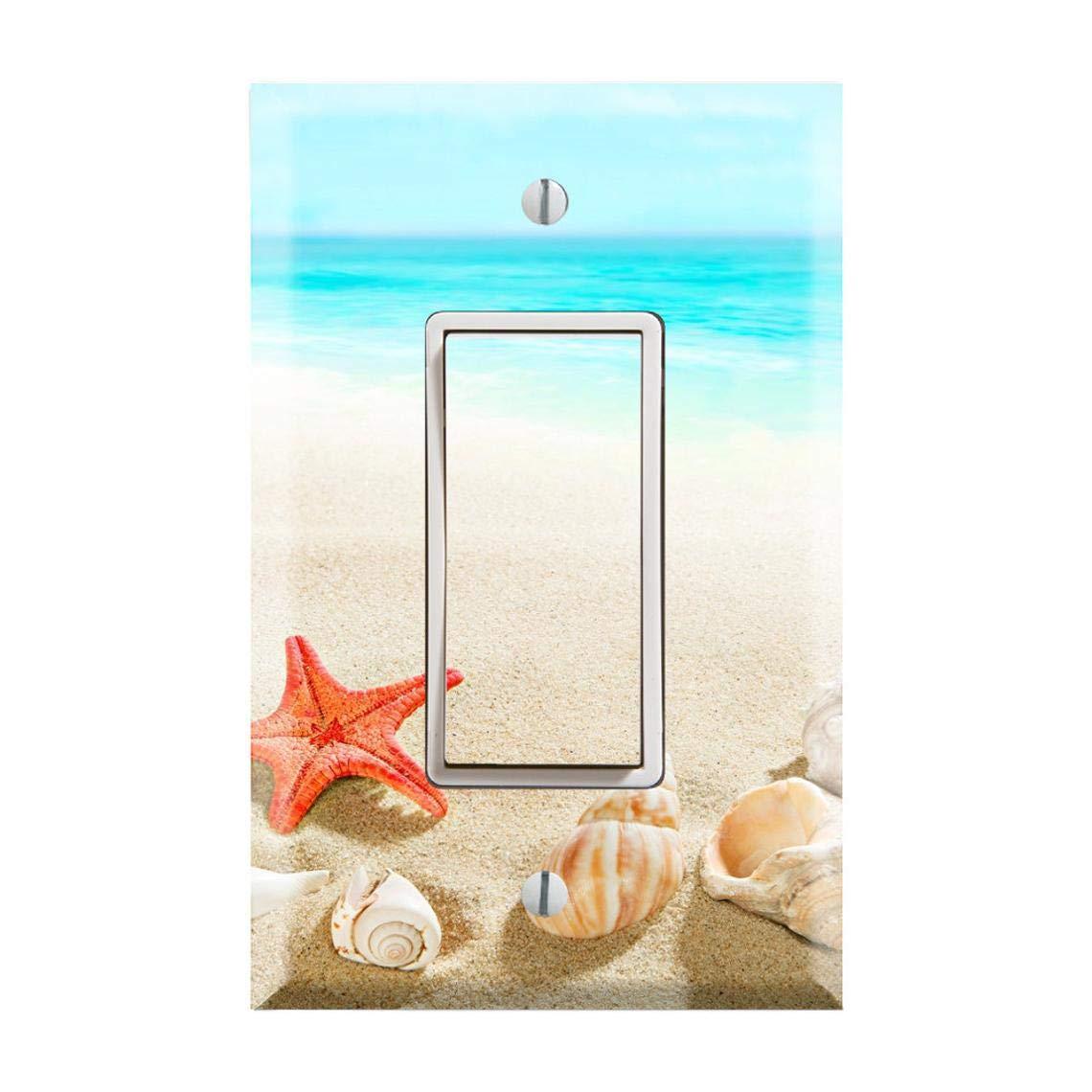 Amazon Com Beach Tropical Light Switch Cover Beach Nautical Nursery Light Switch Plate Blue Sea Light Switch Beach Themed Room Summer Trend Hawaii Bora Bora Light Switch Cover Tf54 Handmade