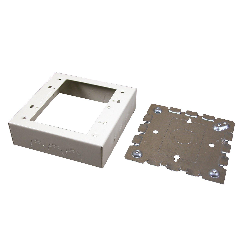 Legrand - Wiremold B-32 2 Gang Metal Switch Box, Ivory