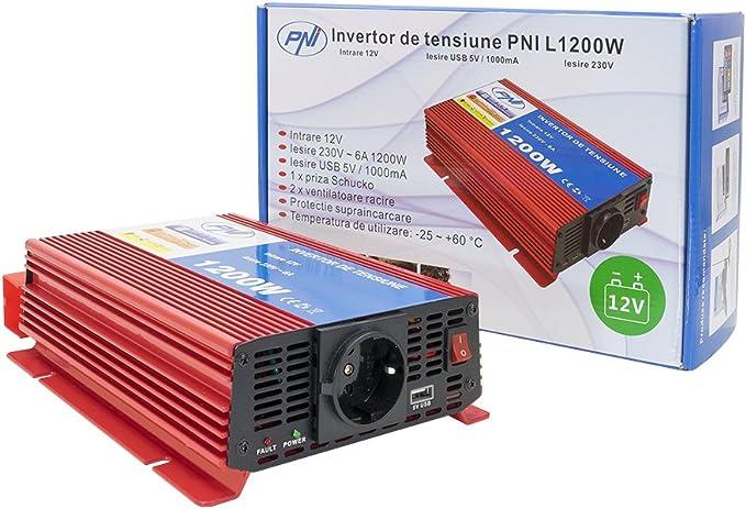 Invertitori di corrente, Power inverter PNI L1200W, ingresso 12V